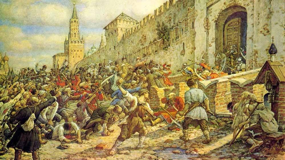Эрнест Лисснер. Соляной бунт на Красной площади. 1930-е гг.