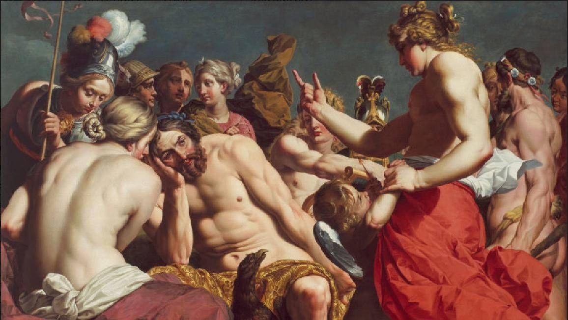 Абрахам Янсенс. Юпитер, упрекаемый Венерой (фрагмент). 1613