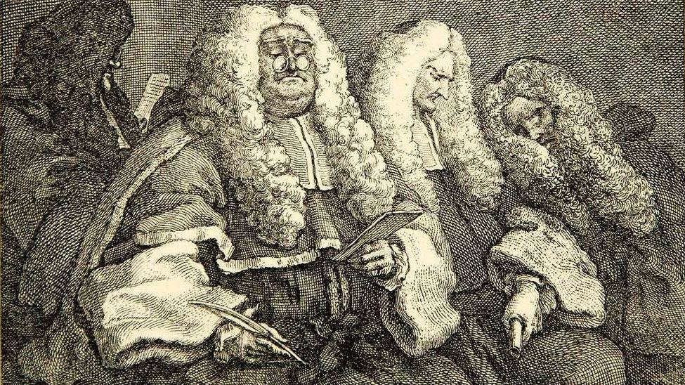 Уильям Хогарт. Суд (фрагмент). 1883