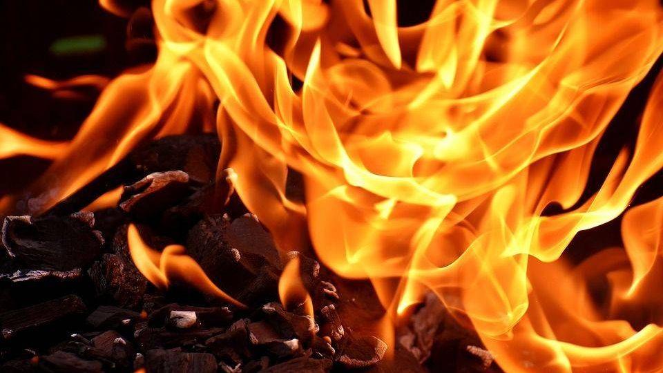 пожар, пламени, углерода