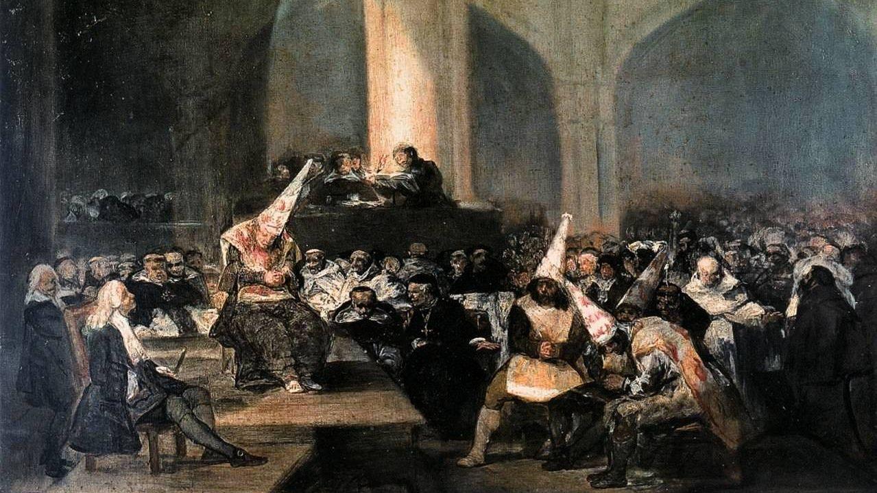 Франсиско де Гойя. Трибунал инквизиции. 1819 (фрагмент)