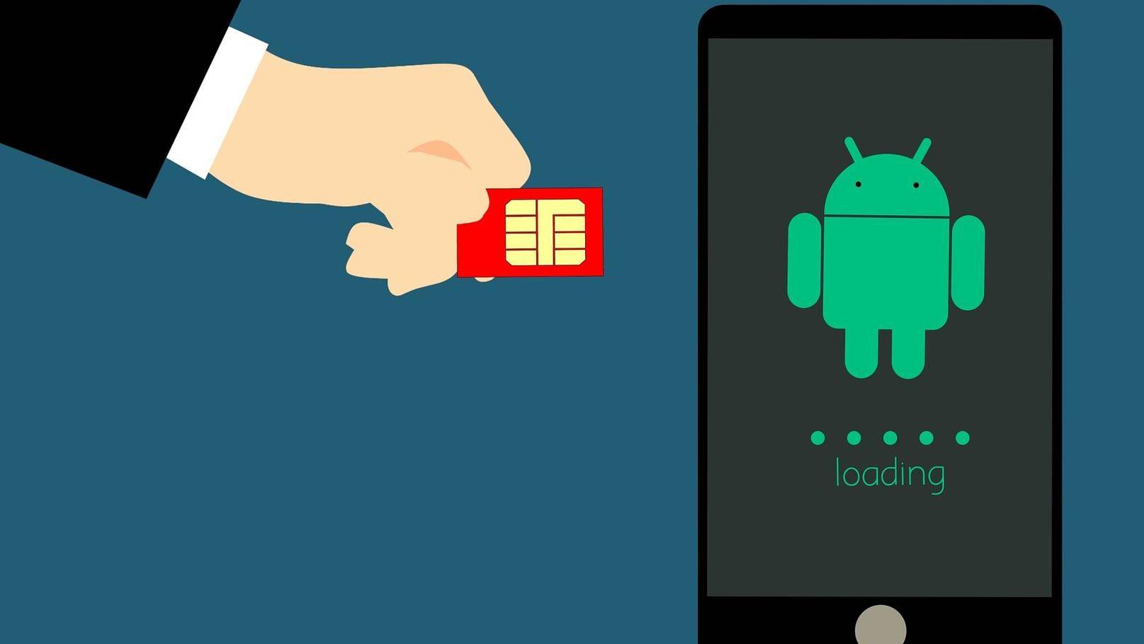 SIM-карта и смартфон