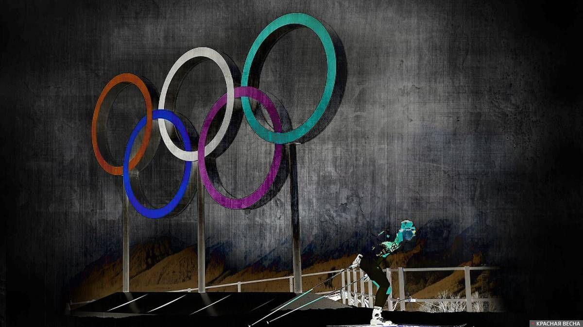 Олимпиада. Лыжник на трассе