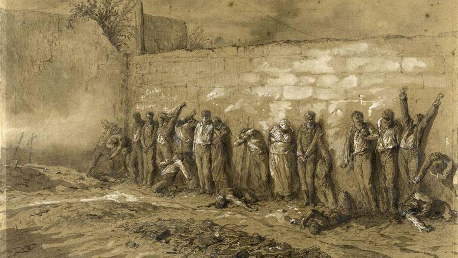 А. Даржу. Расстрел коммунаров на Пер-Лашез 28 мая 1871 года. Музей Карнавале, Париж