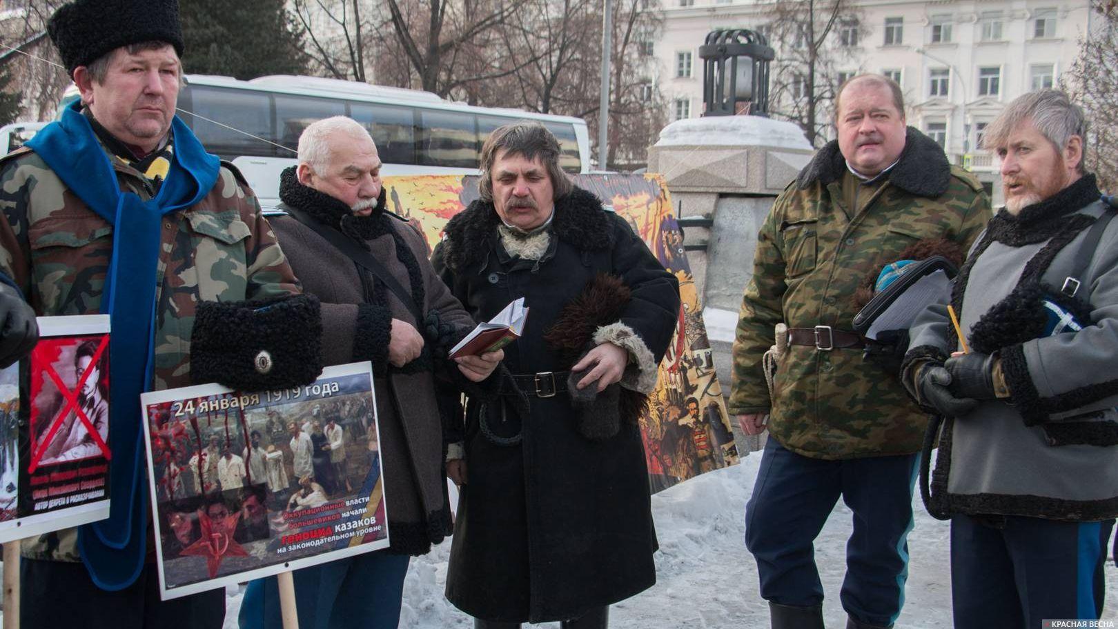Пикет за переименование Свердловской области. Екатеринбург. 27.01.2018