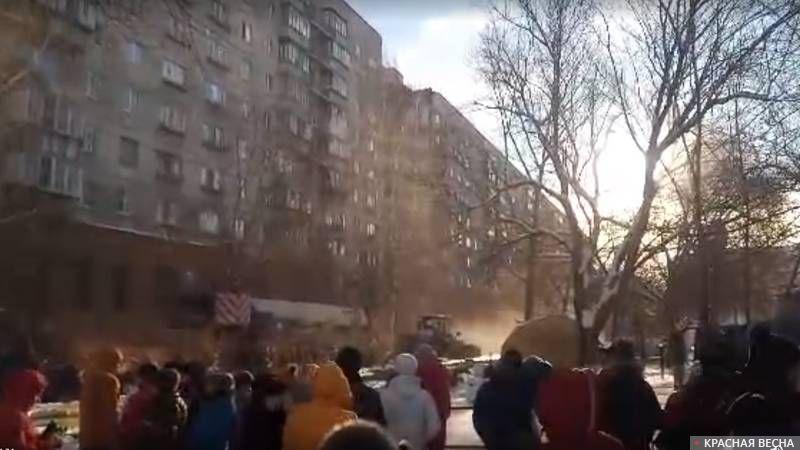 Магнитогорск. место трагедии  31.01.2018