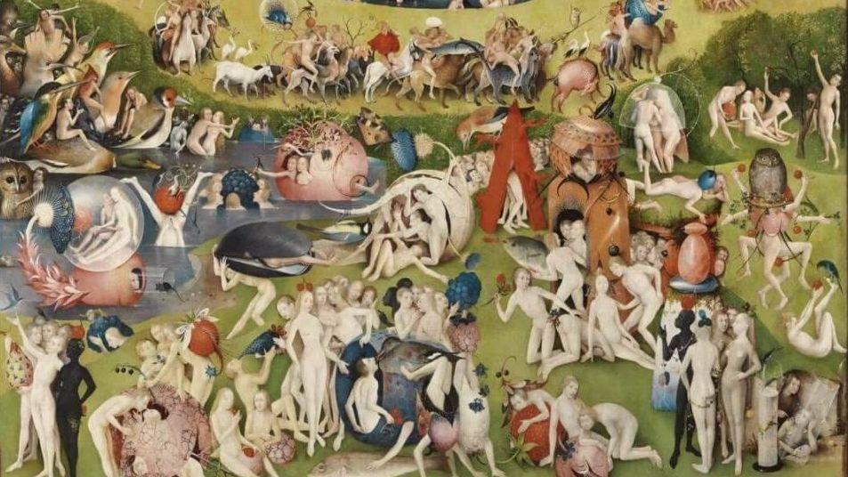 Иероним Босх. Центральная часть триптиха Сад земных наслаждений (фрагмент). 1505-1510