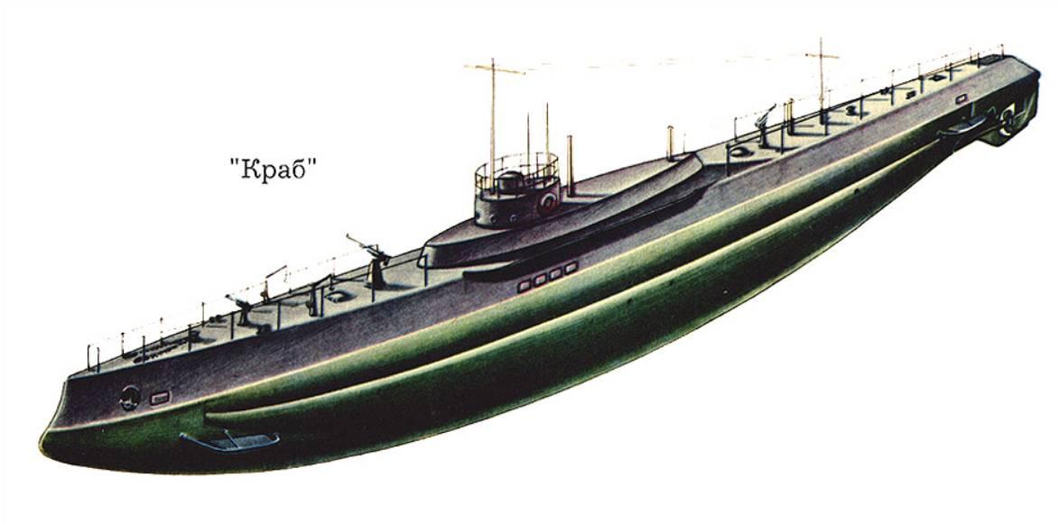 Подводный минный заградитель «Краб»