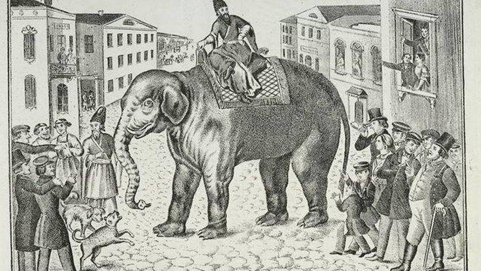 Лубок «Слон и моська»