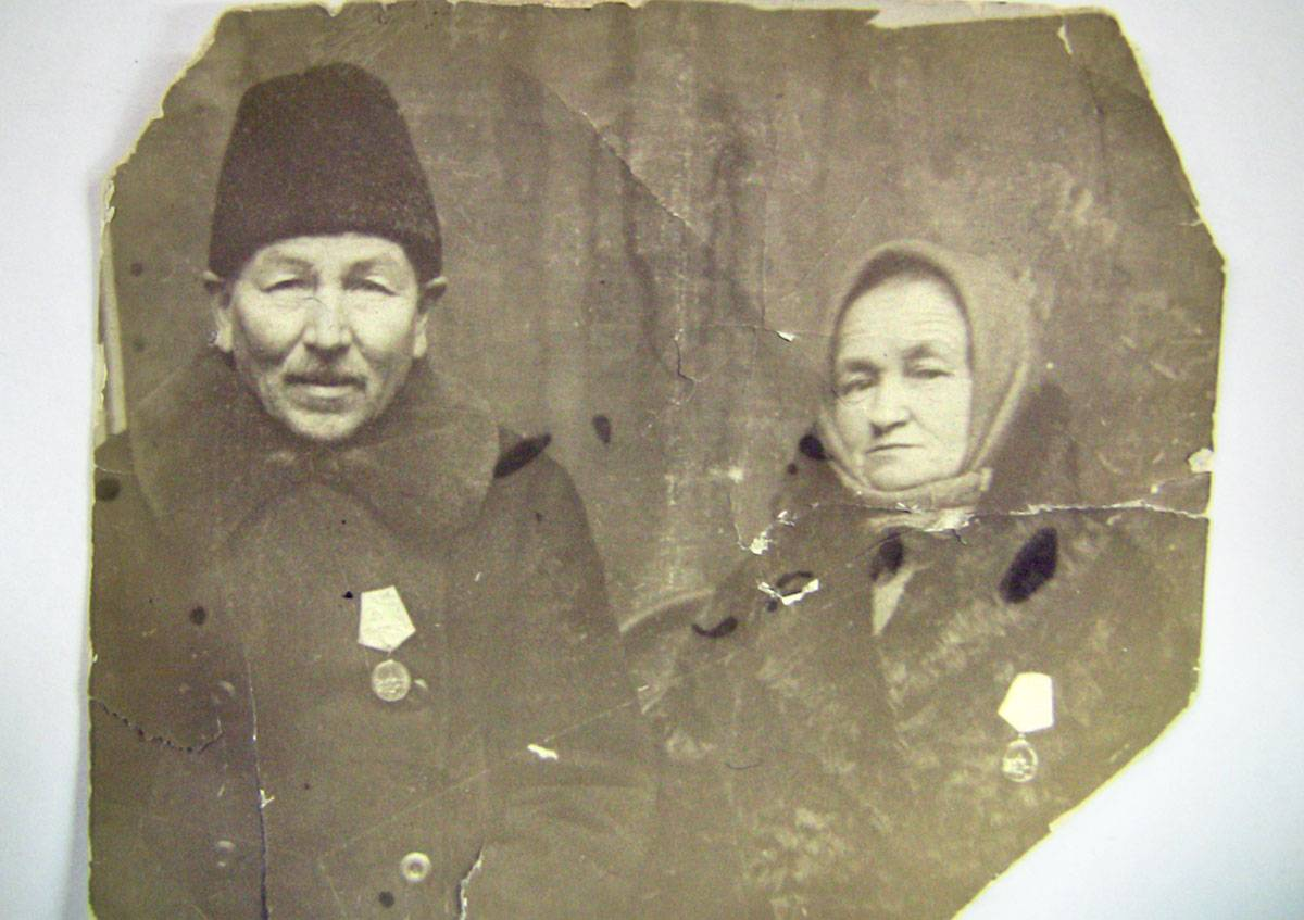Беловы Александр Иванович и Вера Сергеевна. 1943 год, Ленинград