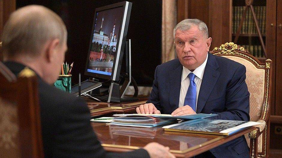 Владимир Путин. Игорь Сечин