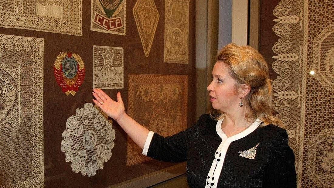 Светлана Медведева в Музее кружева в Вологде