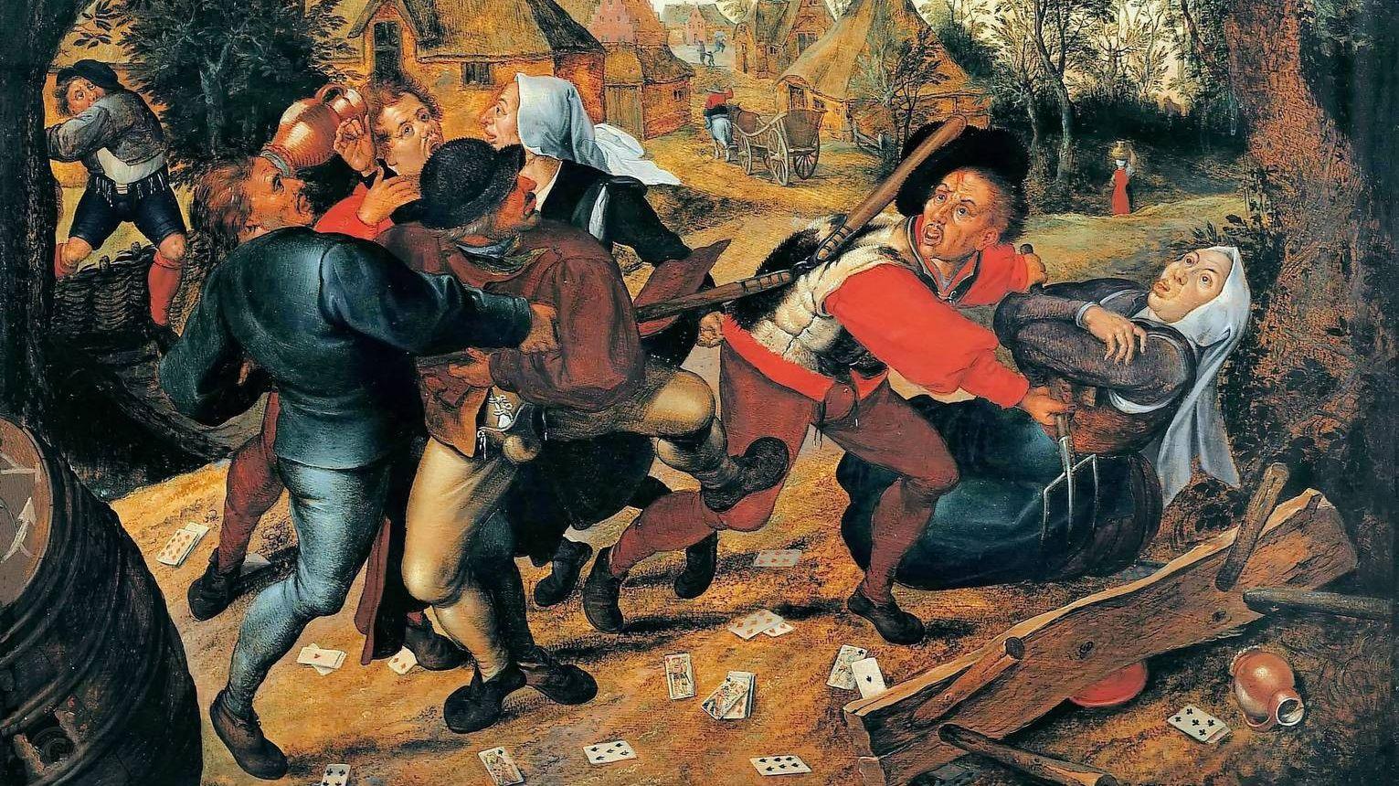 Питер Брейгель Младший. Драка картёжников. 1620-30