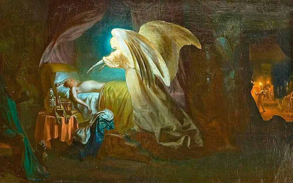 Илья Репин. Ангел смерти истребляет первенцев египетских. 1865