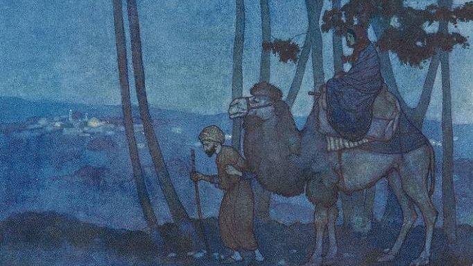 Эдмунд Дюлак. Иллюстрация к сказкам 1001 ночь. XX век