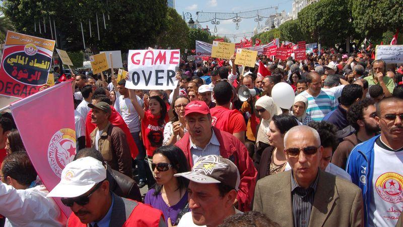 ВТунисе вспыхнули массовые протесты