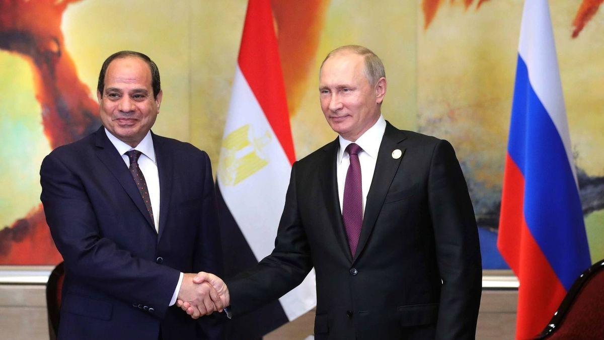 Президенты России и Египта