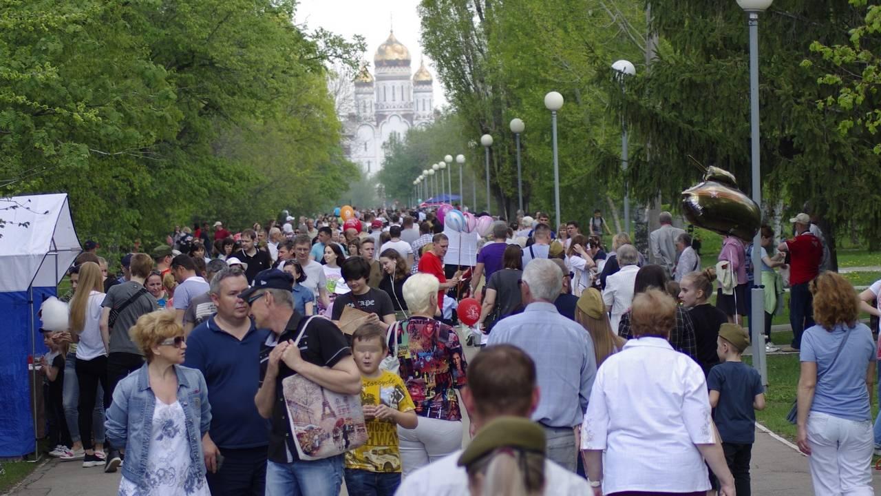 Тольятти, Самарская область. День Победы в парке Победы