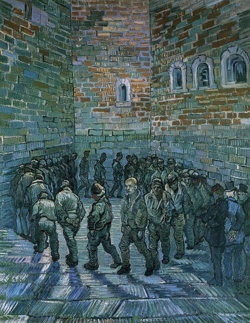 Винсент ван Гог. Прогулка заключённых. 1890
