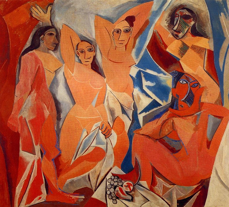 Пабло Пикассо. Авиньонские девицы. 1907