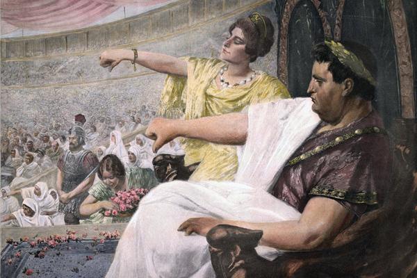 В.О. Петерс. Нерон в цирке. 1900