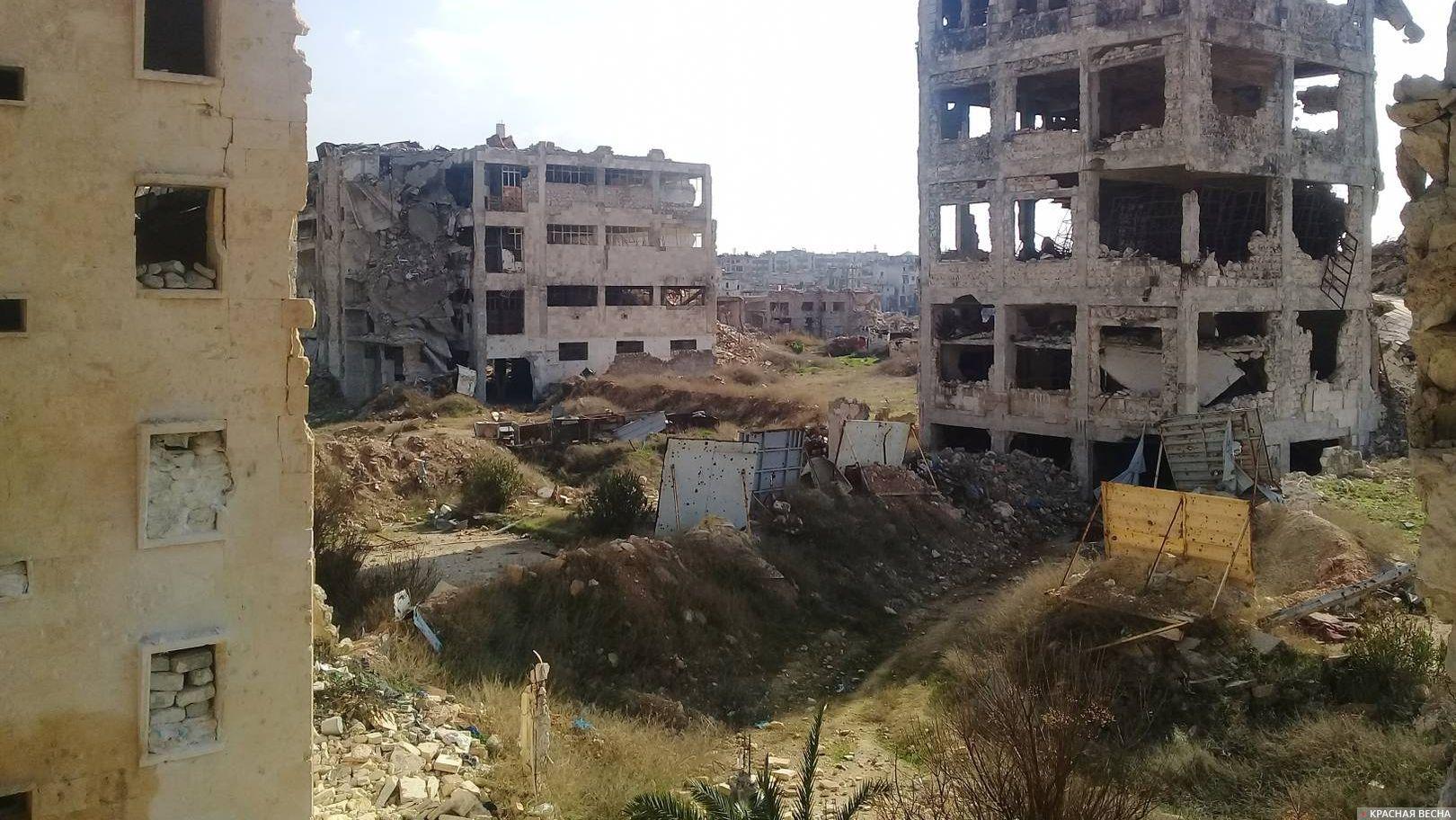 В Сирии террористы обстреляли район Алеппо из минометов