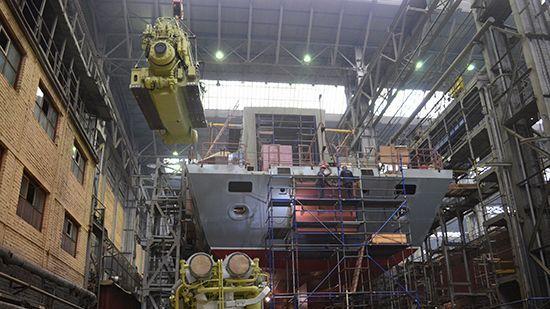 На судостроительном заводе «Северная верфь»