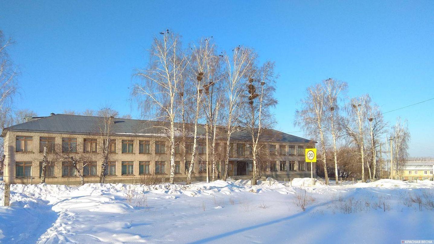 Сельская школа. Зима.