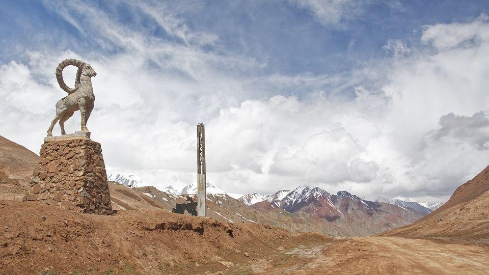Граница Киргизии и Таджикистана