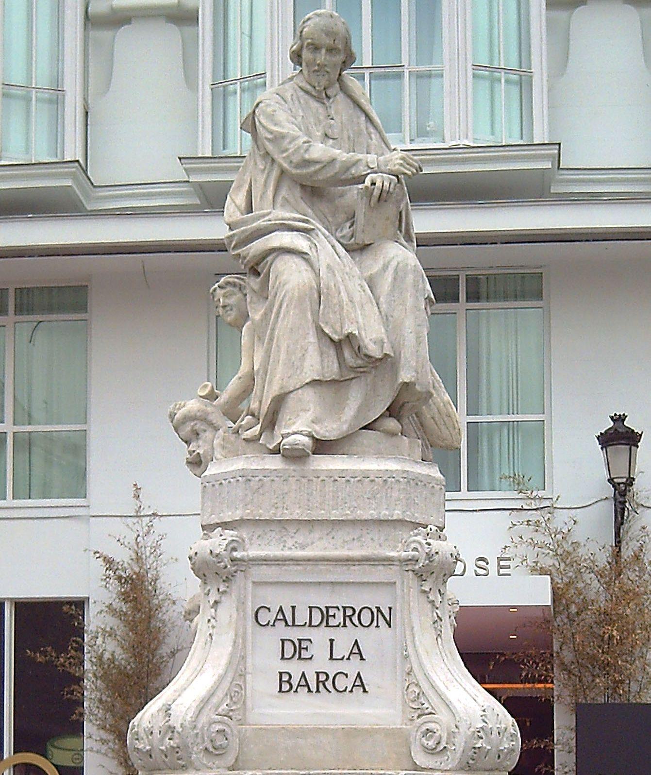 Памятник Кальдерону в Мадриде на площади Святой Анны
