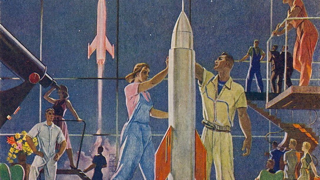 Александр Дейнека. Покорители космоса. 1961 (фрагмент)
