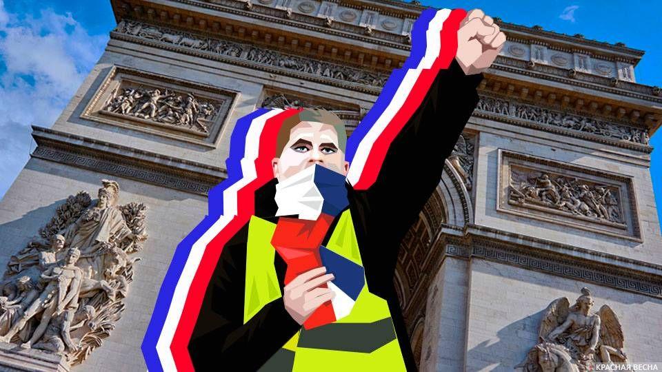 Желтые жилеты в Париже