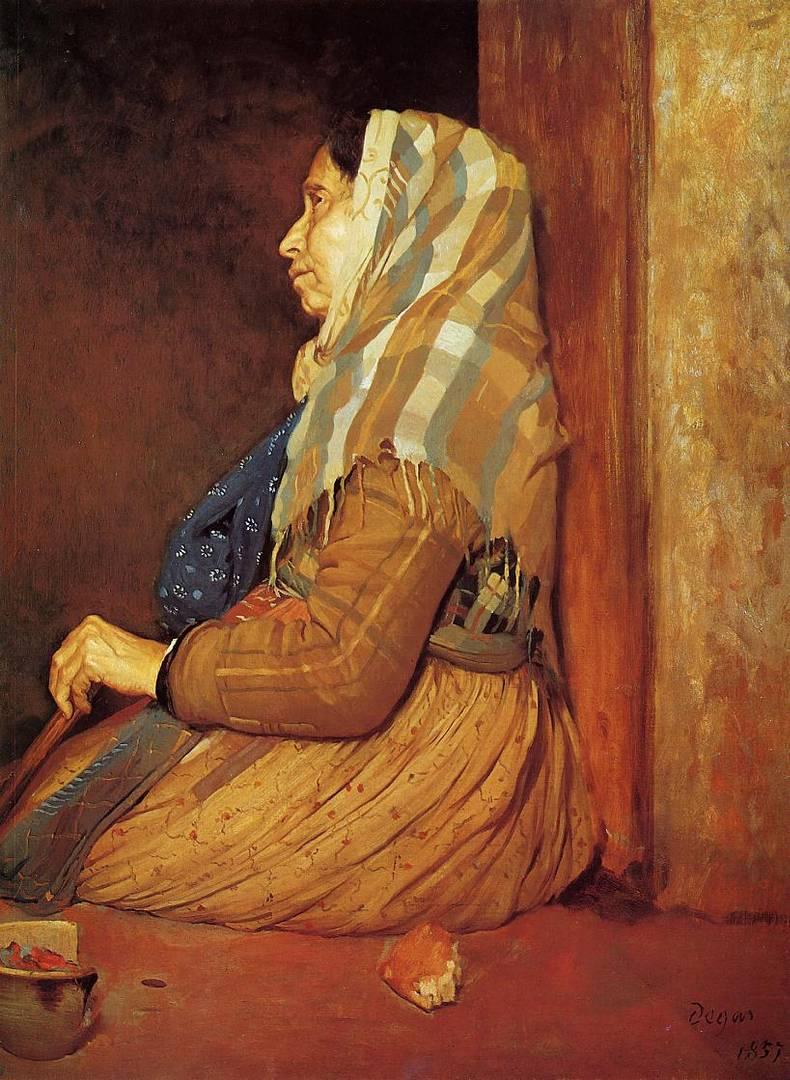Эдгар Дега. Римская нищенка. 1857