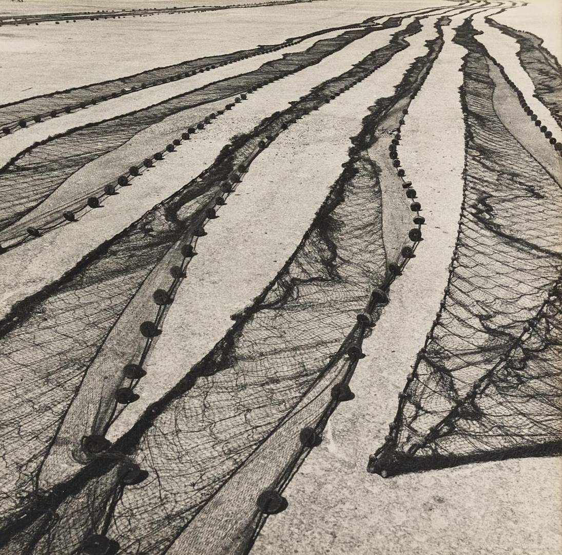 Самир Макарий. Сети рыбаков из Мар-дель-Плата. 1956