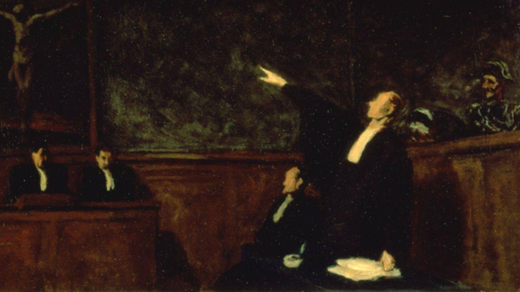 Оноре Домье. Суд. 1865