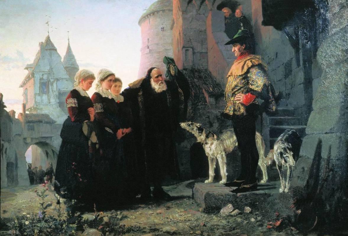 Василий Поленов. Право господина. 1874