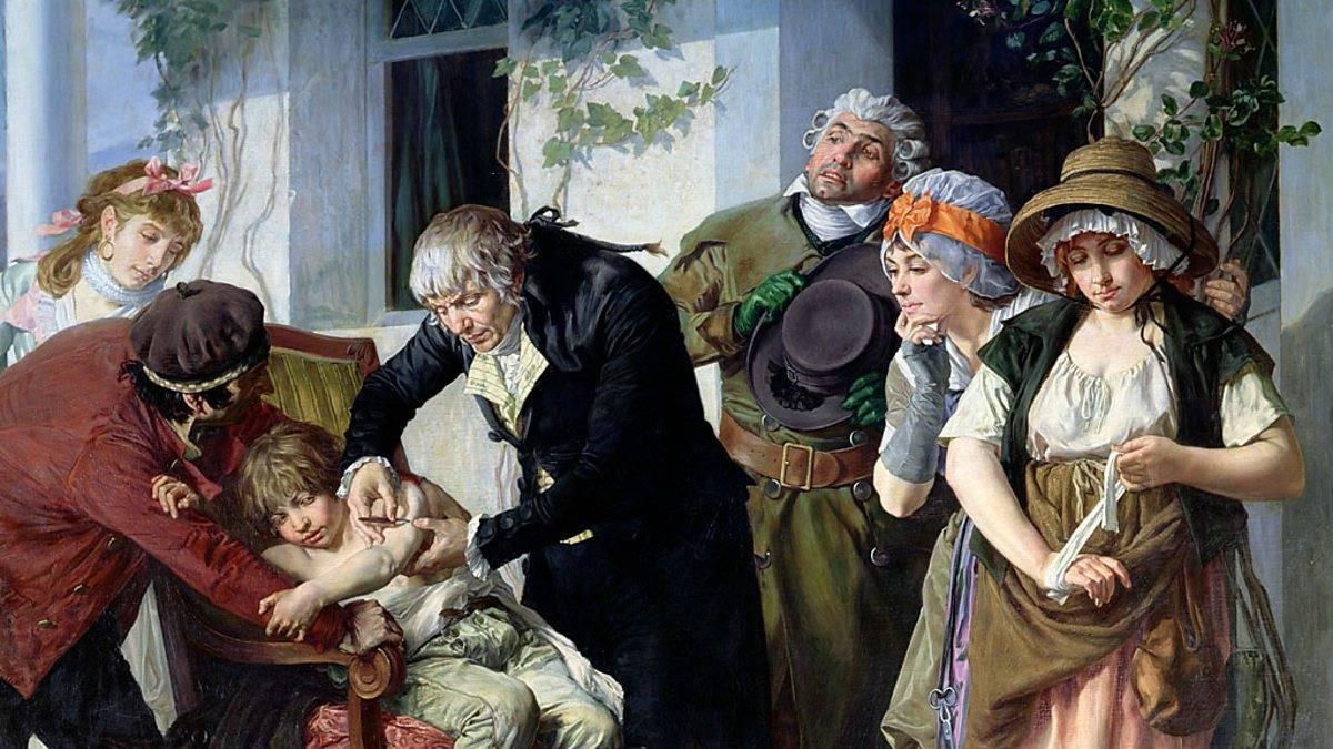 Мелинг Гастон. Эдвард Дженнер впервые делает прививку против оспы крестьянскому мальчику. 1879