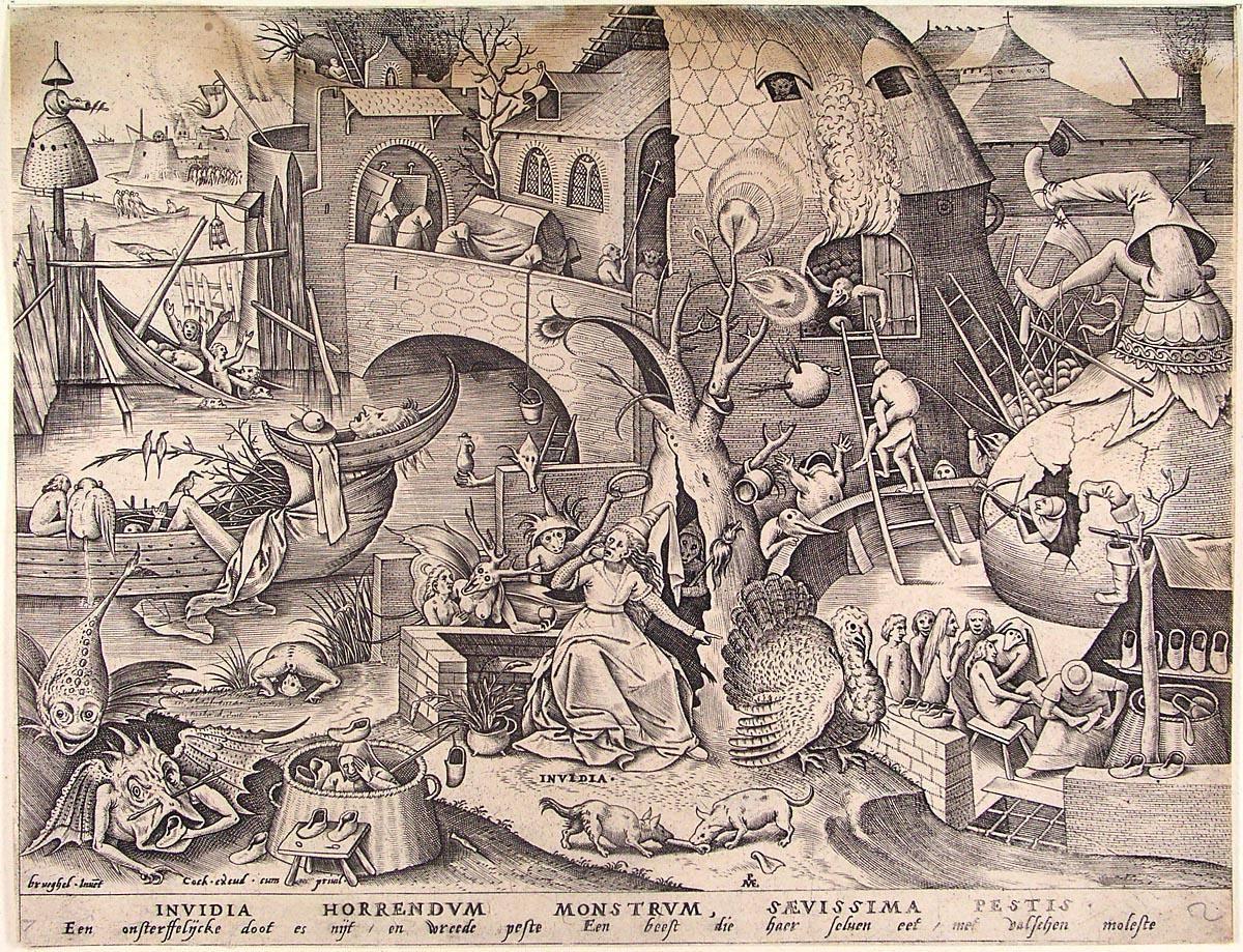 Питер Брейгель Старший. Зависть. ок. 1560