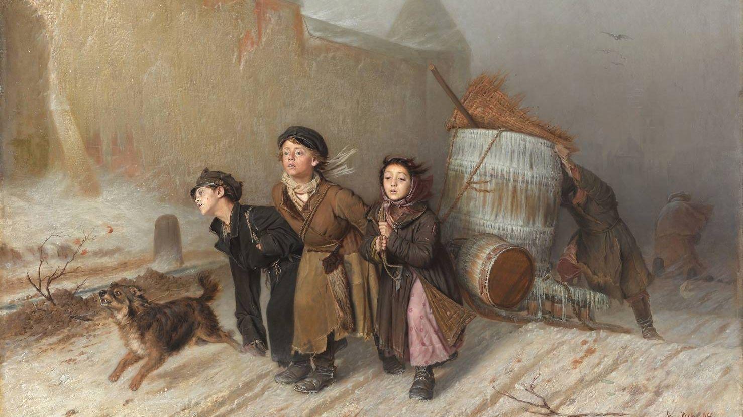 Василий Перов. Тройка (Ученики мастеровые везут воду). 1866
