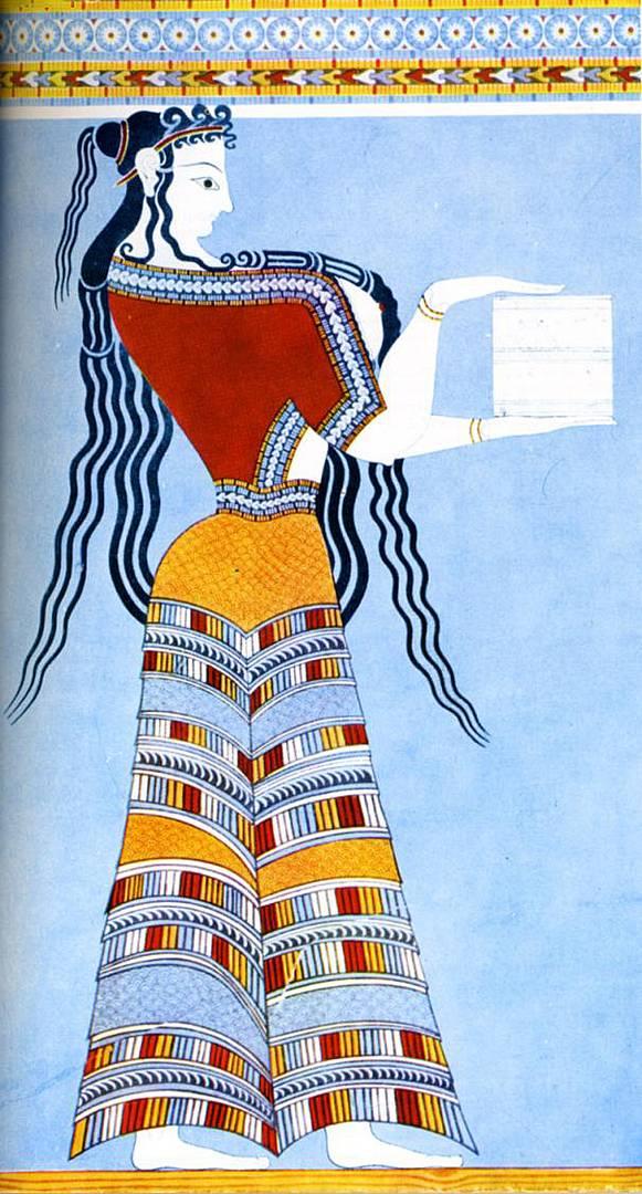 Фреска из Кносского дворца