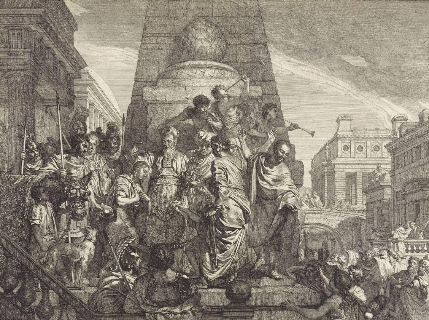 Герард де Лересс. Помазание Соломона на царство. 1668