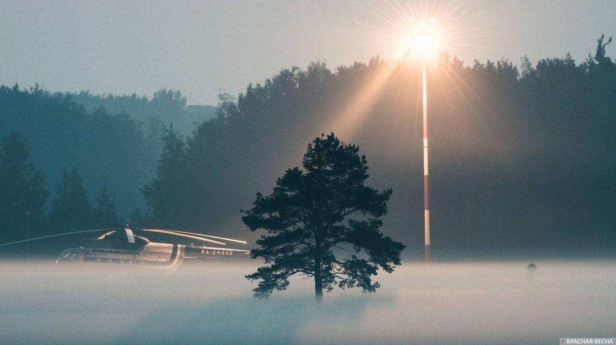 Вертолет в тумане