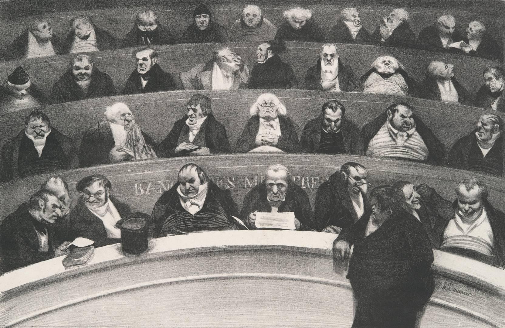 Оноре Домье. Палата депутатов. Законодательный живот... 1834