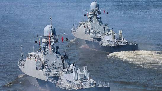 Выход кораблей в море