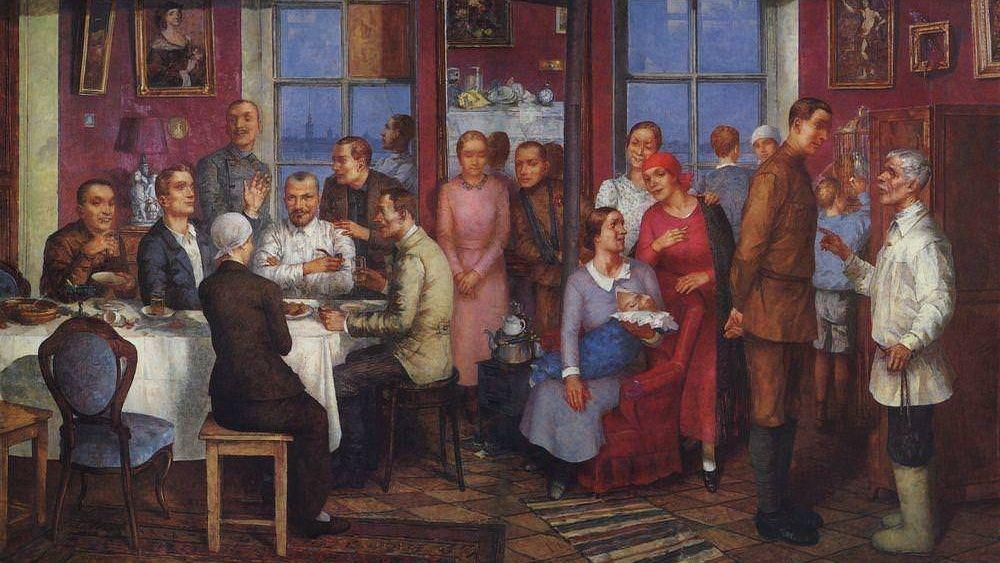 Кузьма Сергеевич Петров-Водкин. Новоселье. 1937