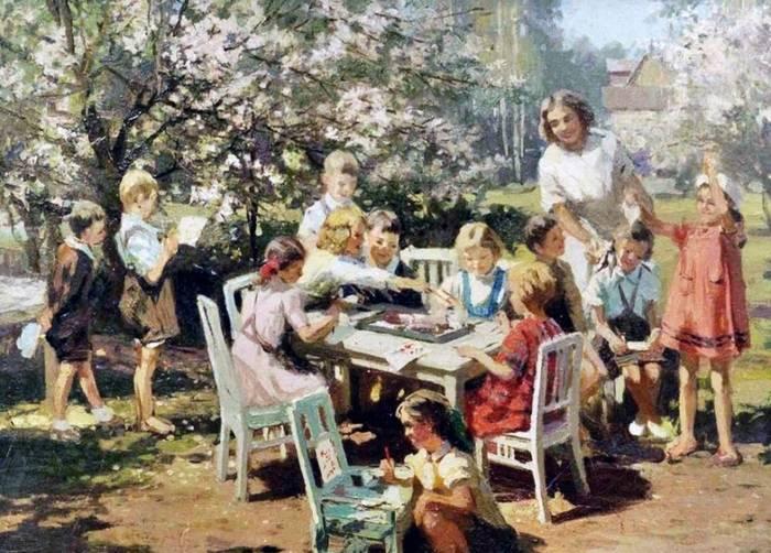Алфей Янович Бромулт. Детский сад. 1950