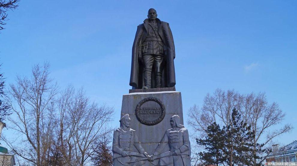 Памятник Колчаку. Иркутск