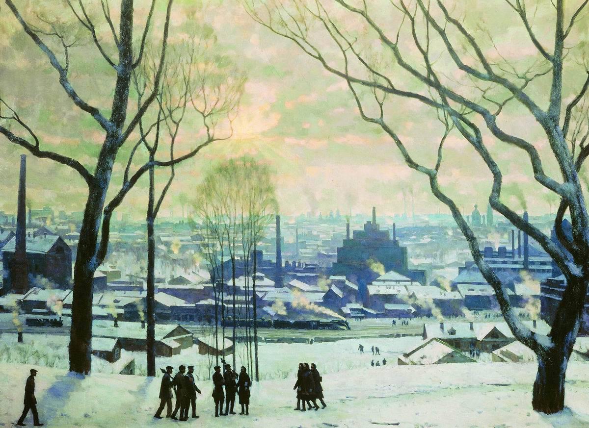 Константин Юон. Утро индустриальной Москвы. 1949