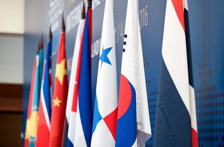 Флаги стран Северо-Восточной Азии