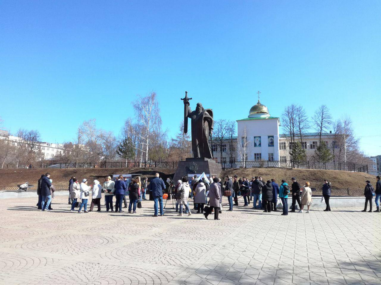 Митинг против мусорной реформы в Екатеринбурге, 7.04.2019